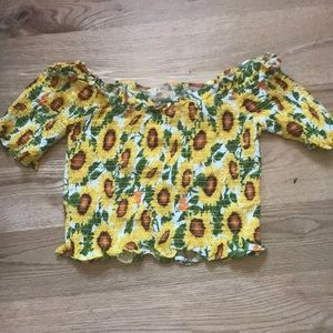 Forever 21 sunflower crop top